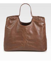 Saint Laurent Ysl Large Shopping Bag - Lyst