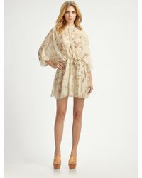 Chloé Silk Floral Dress - Lyst