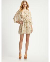 Chloé Silk Floral Dress multicolor - Lyst