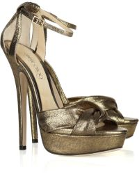 Jimmy Choo 'Kaya' Sandals gold - Lyst