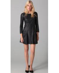 Theory Salindra Light Leather Dress - Lyst