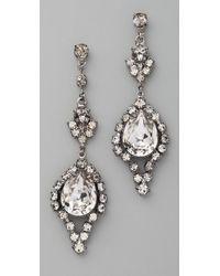 Tom Binns - Dumont Crystal Teardrop Earrings - Lyst