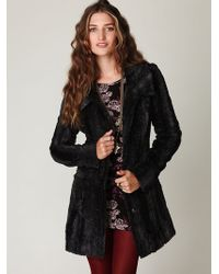 Free People Long and Lean Faux Fur Coat - Lyst
