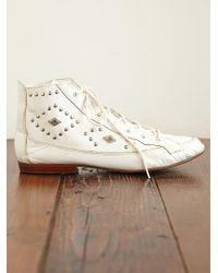 Free People Vintage Studded Boots - Lyst