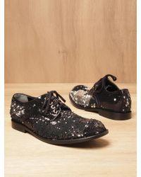 Junya Watanabe - Junya Watanabe Womens Reversible Sequinned Shoes - Lyst