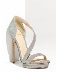 B Brian Atwood Consort Open Toe Sparkly Strappy Platform Sandal - Lyst