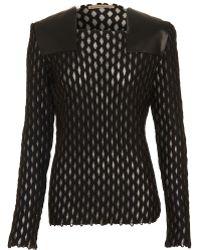 Balenciaga Open Weave Sweater - Lyst