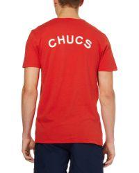 Chucs - Jersey Logo T-shirt - Lyst