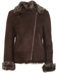 Barneys New York B Shearling Bomber - Lyst