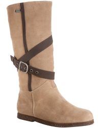 EMU - Sand Suede Aurora Shearling Lined Buckle Boots - Lyst