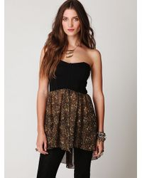 Free People Printed Corset Tunic - Lyst