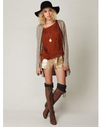 Free People Sequined Track Shorts - Lyst