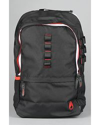 Nixon The Turf Backpack in Black, Red, & White - Lyst