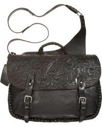 Ralph Lauren   Tooled Leather Messenger Bag   Lyst