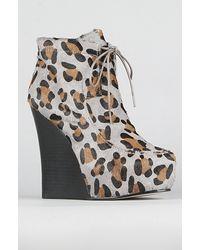 Senso Diffusion The Latrice Shoe in Gray Leopard - Lyst