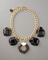 Tory Burch Resin-square Necklace - Lyst