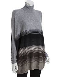 Autumn Cashmere Neutral Combo Ombre Stripe Cashmere Rectangle Turtleneck Sweater - Lyst