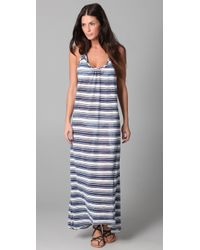 Josa Tulum - Striped Low Back Halter Dress - Lyst