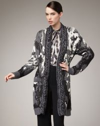 Rachel Roy - Patterned Long Cardigan - Lyst
