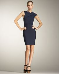 Roland Mouret Wilkes Fold-neck Dress - Lyst