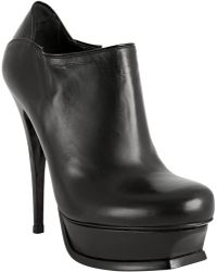 Saint Laurent Black Leather Tribute 105 Booties - Lyst
