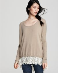 Ash - Quotation: Autumn Cashmere French Lace Trimmed Tunic - Lyst