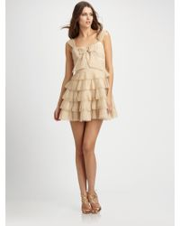 Mark + James by Badgley Mischka Pleated Dress - Lyst