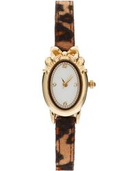 ASOS - Asos Leopard Print Watch with Bow Detail - Lyst