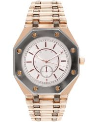ASOS - Asos Boyfriend Style Watch with Octagonal Case Detail - Lyst
