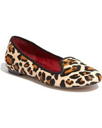 Cole Haan Air Morgan Leopard-Print Calf Hair Slippers - Lyst