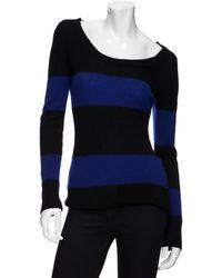 Enza Costa Exclusive Crewneck Colorblock Sweater - Lyst