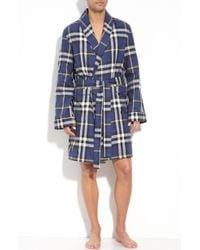 Burberry Check Robe blue - Lyst