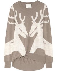 3.1 Phillip Lim Reindeer Merino Wool-blend Sweater - Lyst