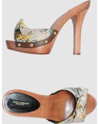 Dolce & Gabbana Platform Sandals - Lyst