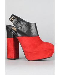 Dolce Vita The Joanna Shoe in Red Suede - Lyst