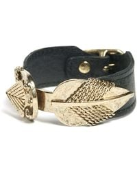 Low Luv by Erin Wasson Leather Arrow Cuff - Lyst