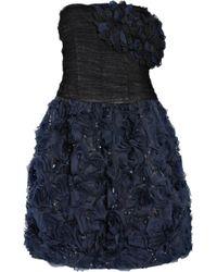 Oscar de la Renta Tulle and Ruffled Organza Dress - Lyst