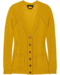 Burberry Prorsum Open-knit Cashmere Cardigan - Lyst