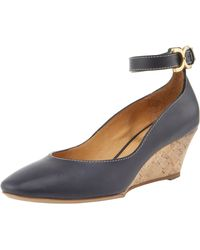 Chloé Ankle-strap Cork-wedge Pump - Lyst