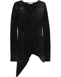 Helmut Lang Printed Cotton And Cashmere-Blend Sweater - Lyst