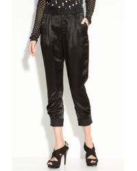 Marc By Marc Jacobs Goldie Satin Front Pants - Lyst