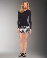Michael Kors Zebra-print Mini Skirt - Lyst