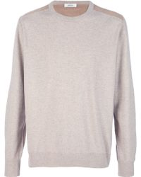 Sefton - Merino and Suede Detail Jumper - Lyst