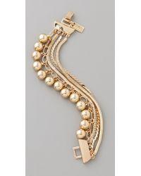 Tuleste - Snake Chain Pom Pom Bracelet - Lyst