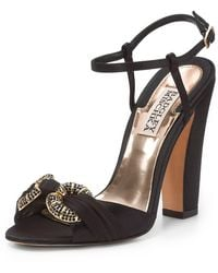 Badgley Mischka Jeweled Sandals - Lyst