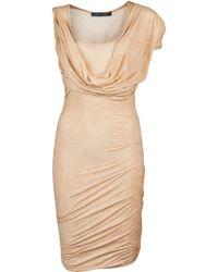 Plein Sud Jeanius - Drape Sleeve Dress - Lyst