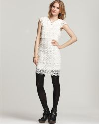 See By Chloé Cap Sleeve Lace Tiered Dress - Lyst