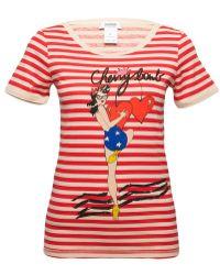 Sonia by Sonia Rykiel Cherry Bomb Striped T-shirt red - Lyst
