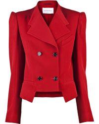 Viktor & Rolf Diagonal Tuxedo Jacket red - Lyst