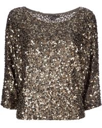 Vince Sequin Embellished Top - Lyst